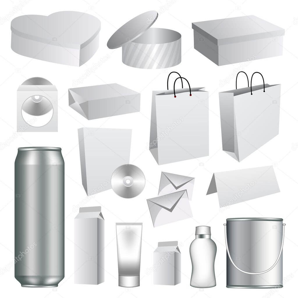 Blank Packaging Templates Collection — Stock Vector With Regard To Blank Packaging Templates