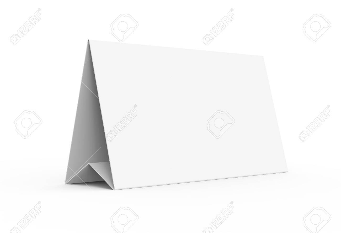 Blank Paper Tent Template, White Tent Card With Empty Space In.. With Regard To Blank Tent Card Template