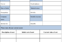 Blank Personal Financial Statement Form | Editable Forms within Blank Personal Financial Statement Template