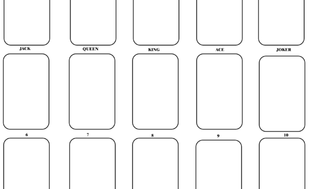 Blank Playing Card Template | Blank Playing Cards, Card within Playing Card Template Word