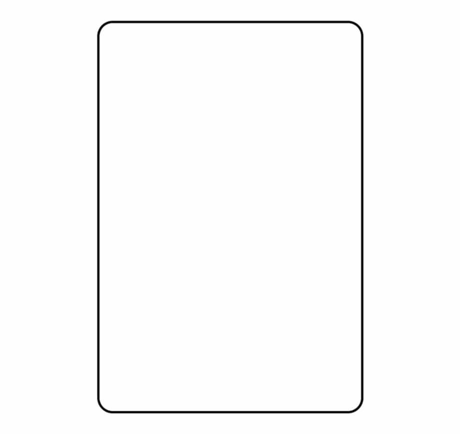 Blank Playing Card Template Parallel – Clip Art Library Pertaining To Blank Playing Card Template