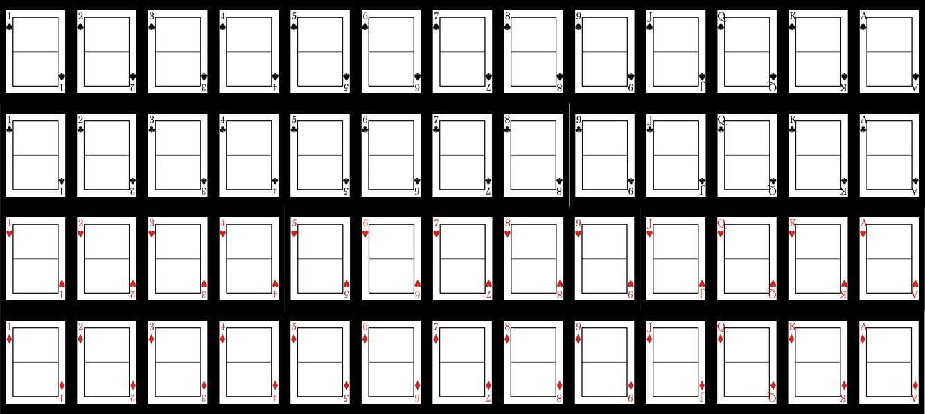 Blank Playing Card Template | Valentine | Blank Playing in Template For Playing Cards Printable