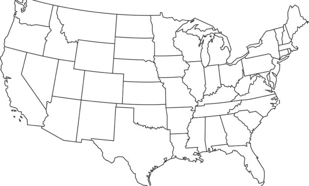 Blank Printable Map Of The Us Clipart Best Clipart Best for Blank Template Of The United States