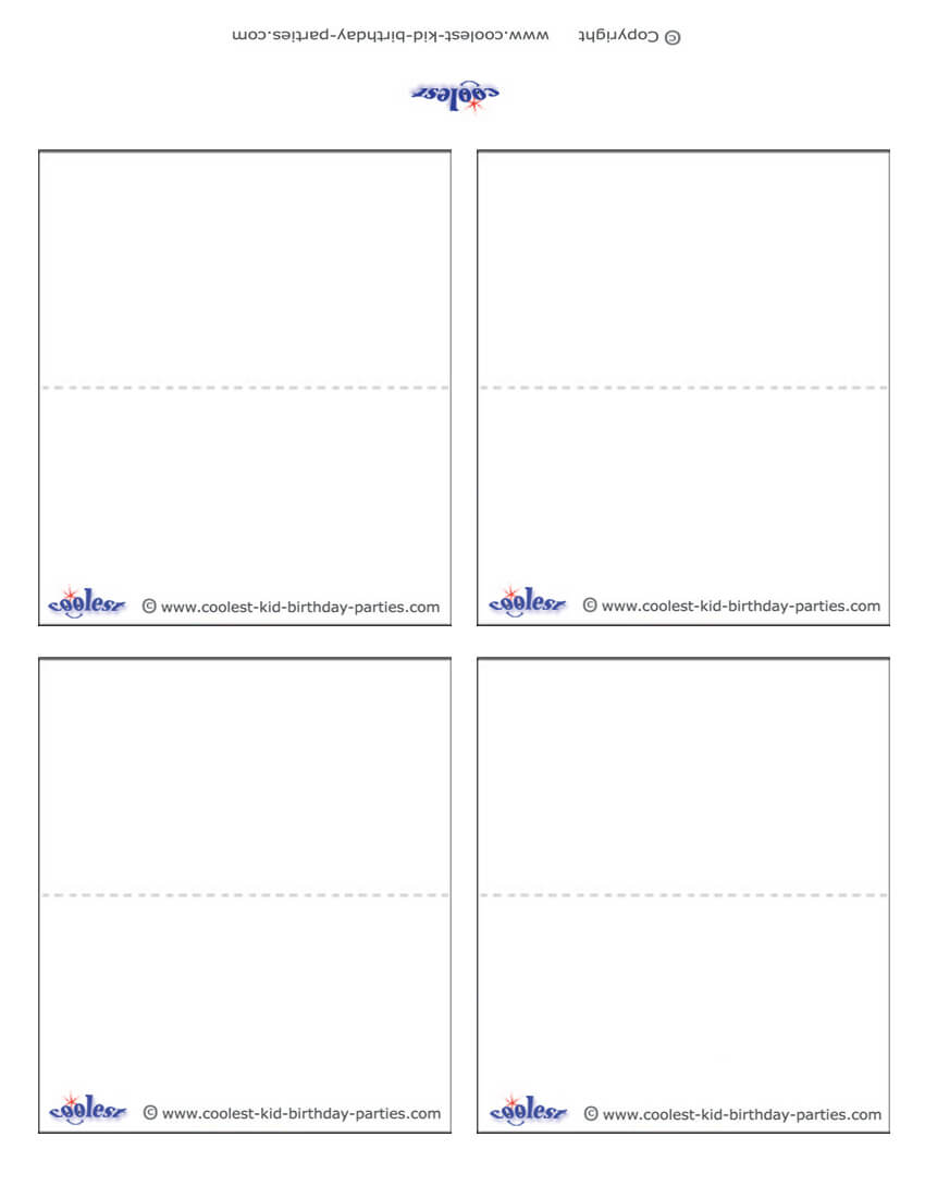 Blank Printable Place Cards regarding Free Place Card Templates Download
