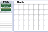 Blank Revision Timetable Template – Atlantaauctionco inside Blank Revision Timetable Template