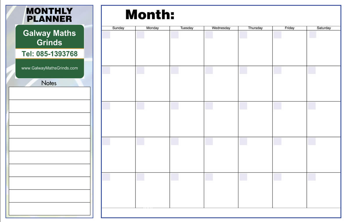 Blank Revision Timetable Template - Atlantaauctionco inside Blank Revision Timetable Template