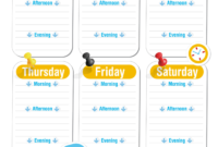 Blank Revision Timetable Template | Timetable Template with Blank Revision Timetable Template