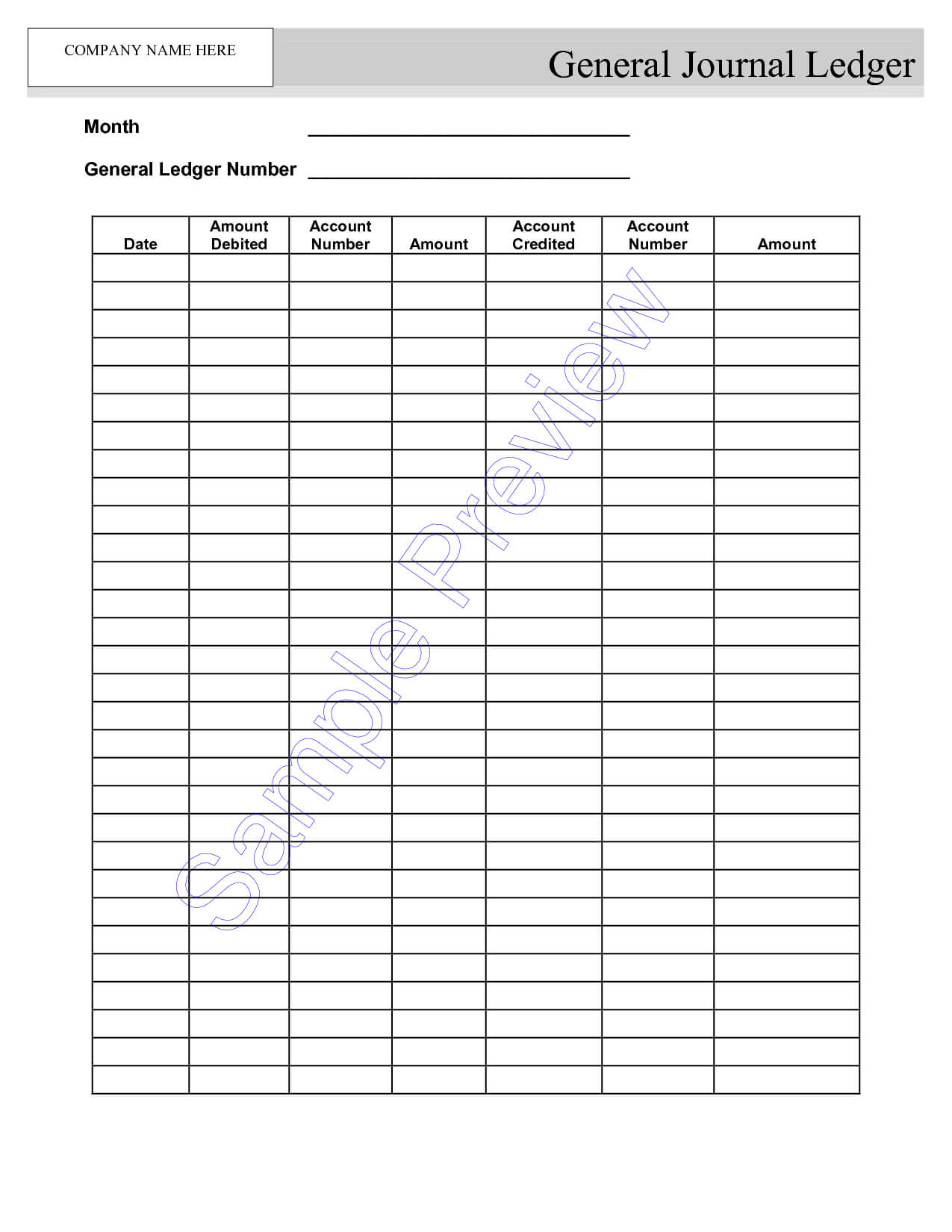 Blank Self Employment Ledger Sheets - Google Search | Small with Blank Ledger Template