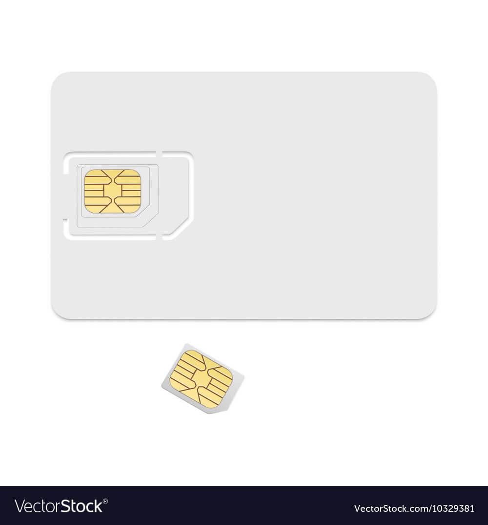 Blank Sim Card Template Realistic Icon Within Sim Card Template Pdf