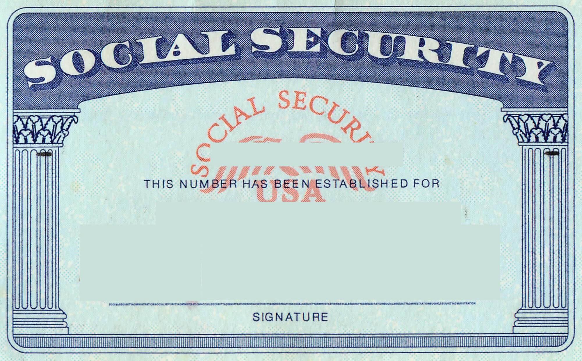 Blank Social Security Card Template | Social Security Card In Ss Card Template