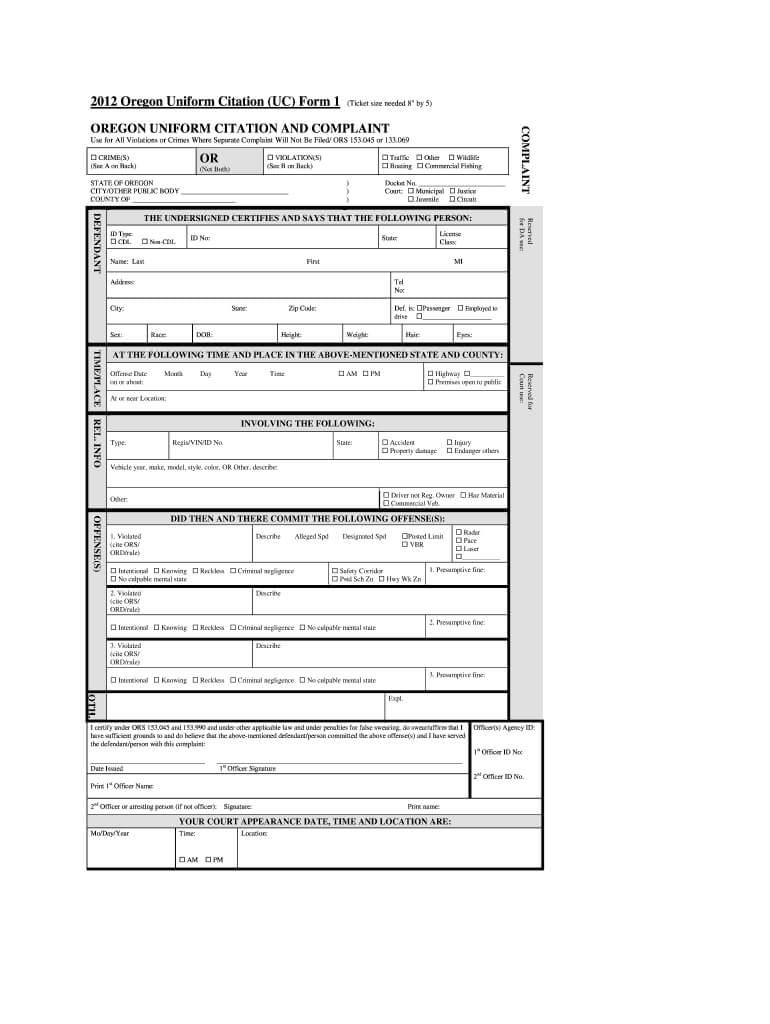 Blank Speeding Ticket - Fill Online, Printable, Fillable with Blank Speeding Ticket Template