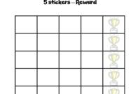 Blank Sticker Chart Template – Edit, Fill, Sign Online within Blank Reward Chart Template