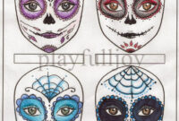 Blank Sugar Skull Template – Google Search | Sugar Skulls In Pertaining To Blank Sugar Skull Template