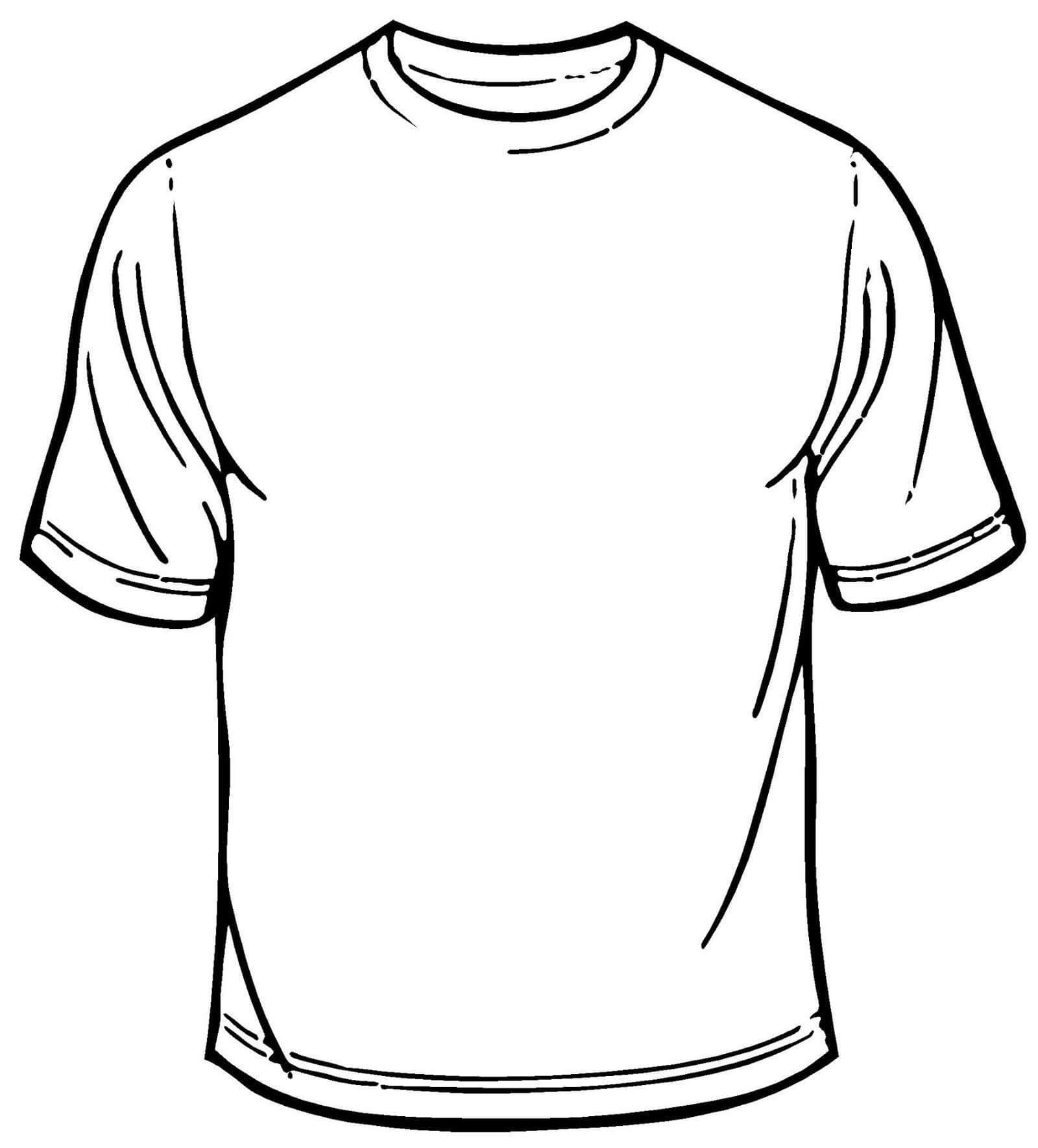 Blank T Shirt Coloring Sheet Printable   T Shirt Coloring throughout Blank Tshirt Template Printable