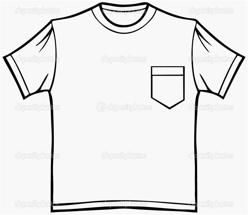 Blank T Shirt Drawing | Free Download Best Blank T Shirt Within Blank Tshirt Template Pdf
