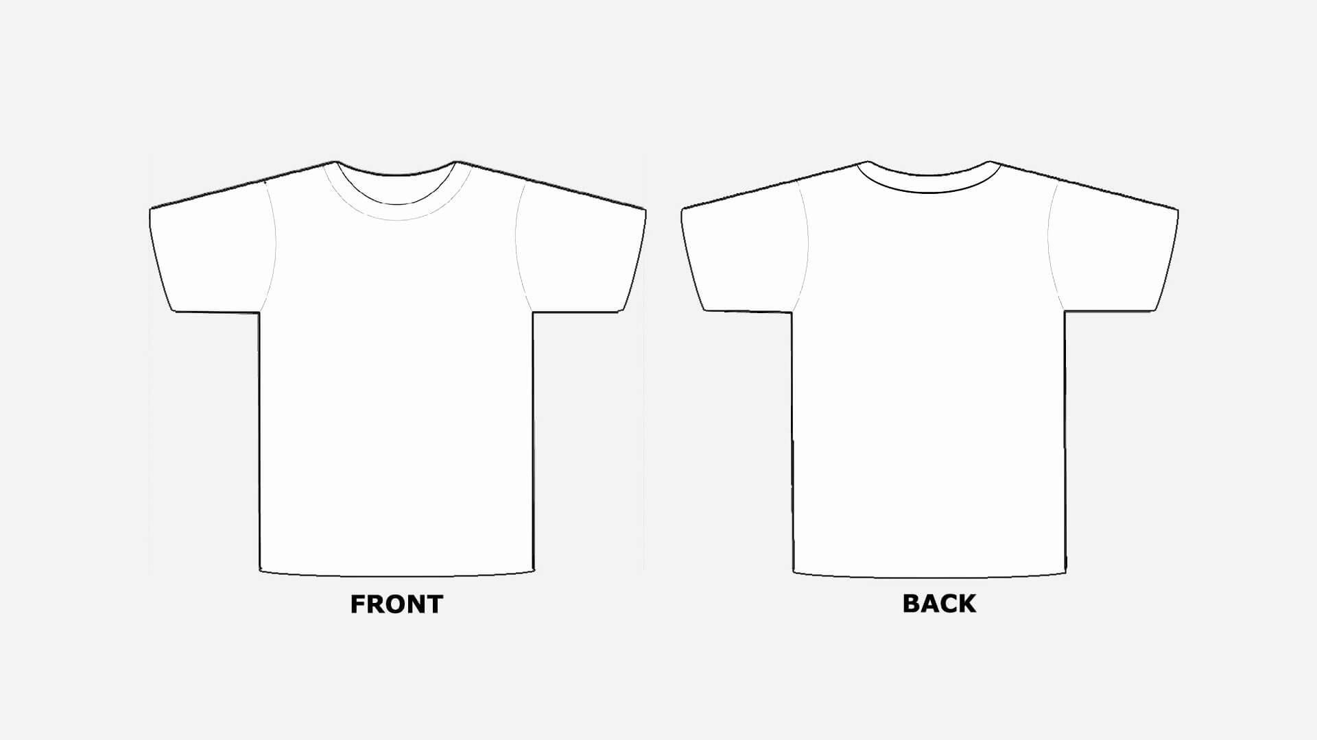 Blank T Shirt Template Clip Art - Dreamworks within Blank Tshirt Template Printable