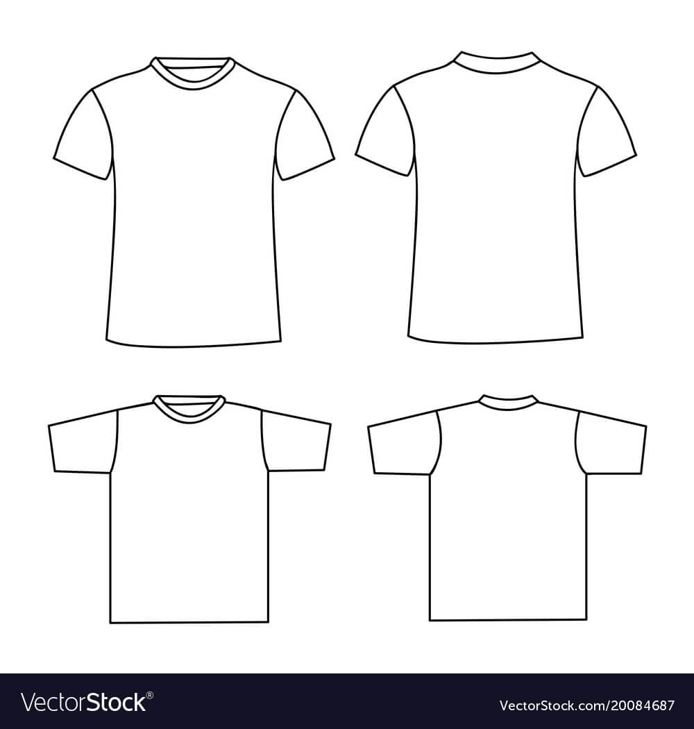 Blank T Shirt Template Front And Back Inside Blank Tshirt Template Pdf
