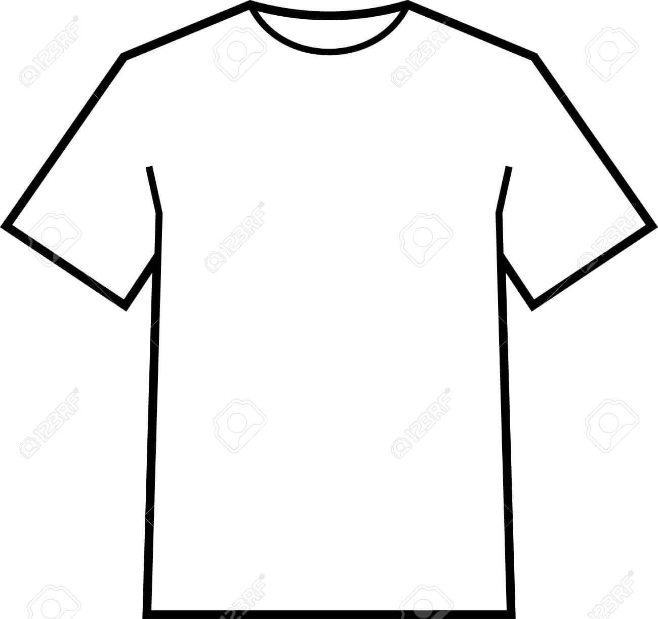 Blank T Shirt Template Vector In Blank Tee Shirt Template