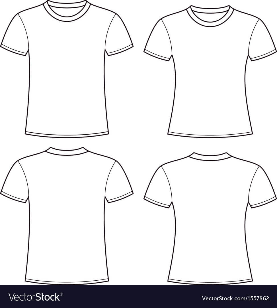Blank T-Shirts Template throughout Blank Tshirt Template Pdf