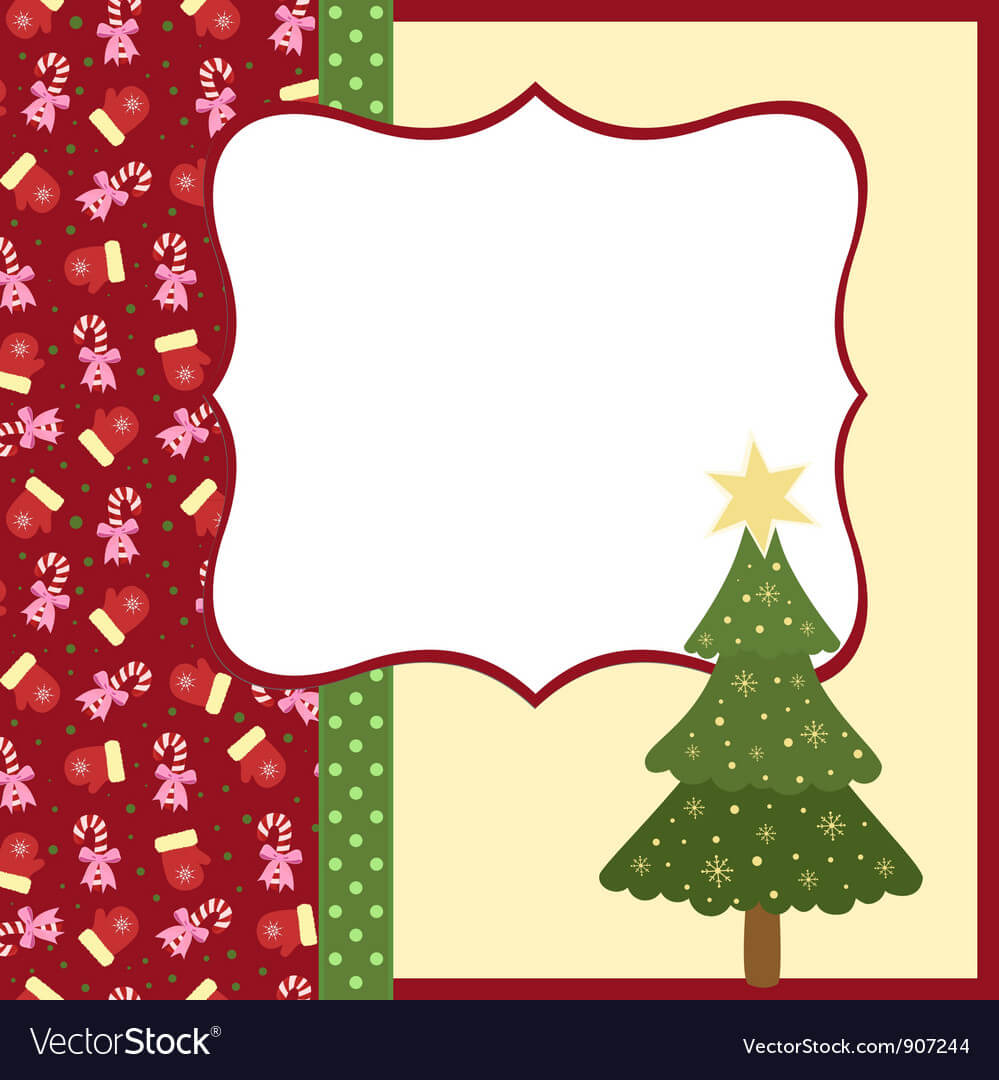 Blank Template For Christmas Greetings Card in Blank Christmas Card Templates Free