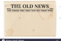 Blank Template Of A Retro Newspaper. Folded Cover Page Of A regarding Old Blank Newspaper Template