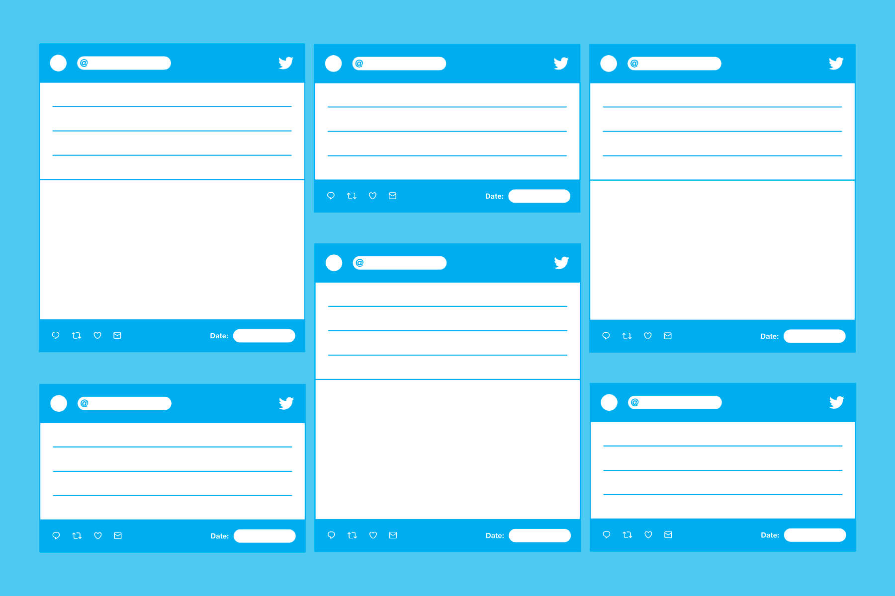 Blank Templates For Creating Printable Tweets. | Twitter Regarding Blank Twitter Profile Template