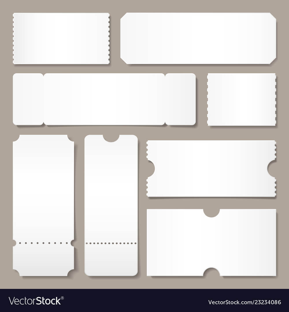 Blank Ticket Template Festival Concert Tickets with Blank Admission Ticket Template