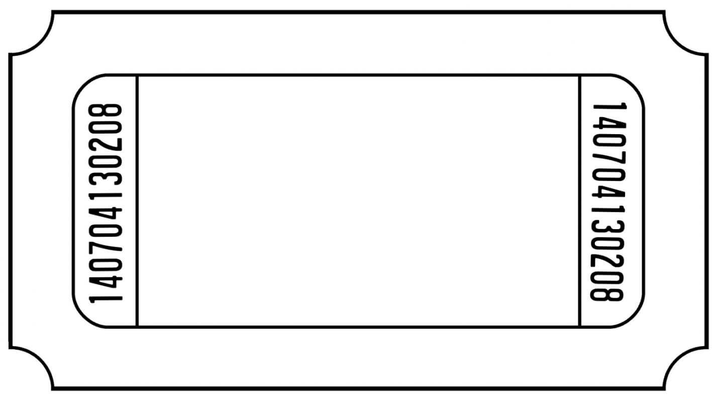 Blank Ticket Template   Template Business throughout Blank Admission Ticket Template