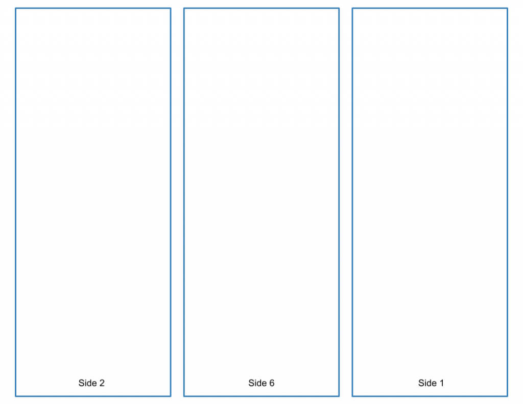 Blank Tri-Fold Brochure Template - Google Slides Free Download throughout Brochure Folding Templates