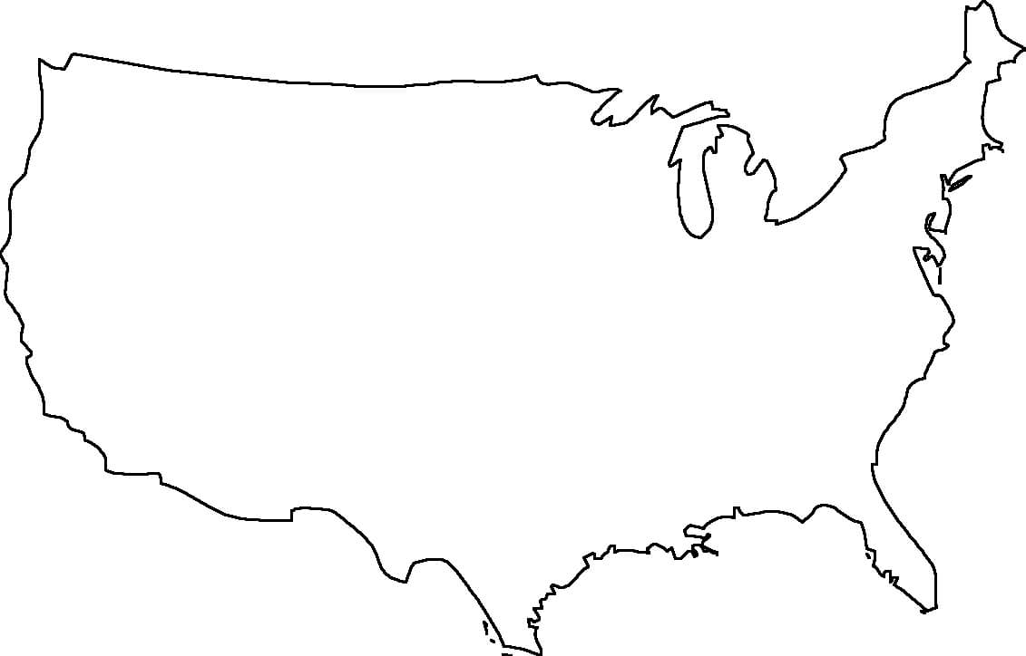 Blank Us Map - Dr. Odd | United States Map, Map Outline, Map within United States Map Template Blank