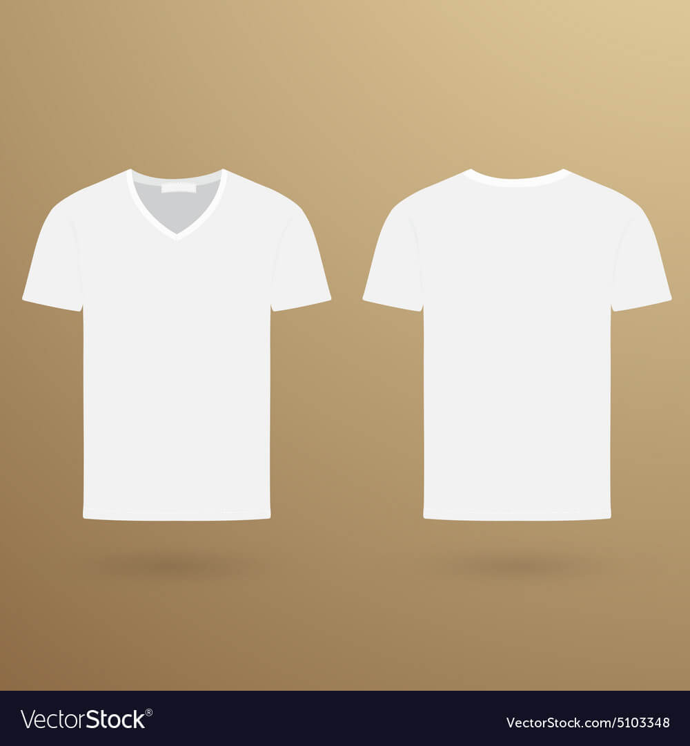 Blank V T Shirt Template Front And Back Regarding Blank V Neck T Shirt Template