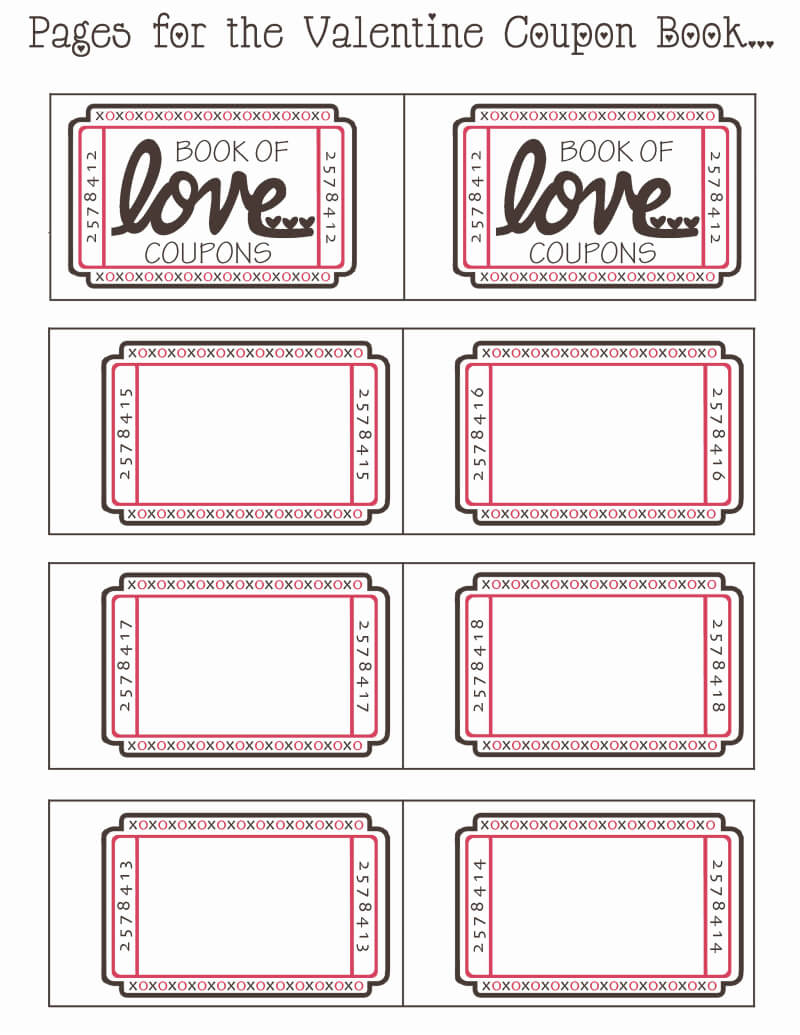 Blank Valentine Coupon Book.pdf - Google Drive | Love with Blank Coupon Template Printable
