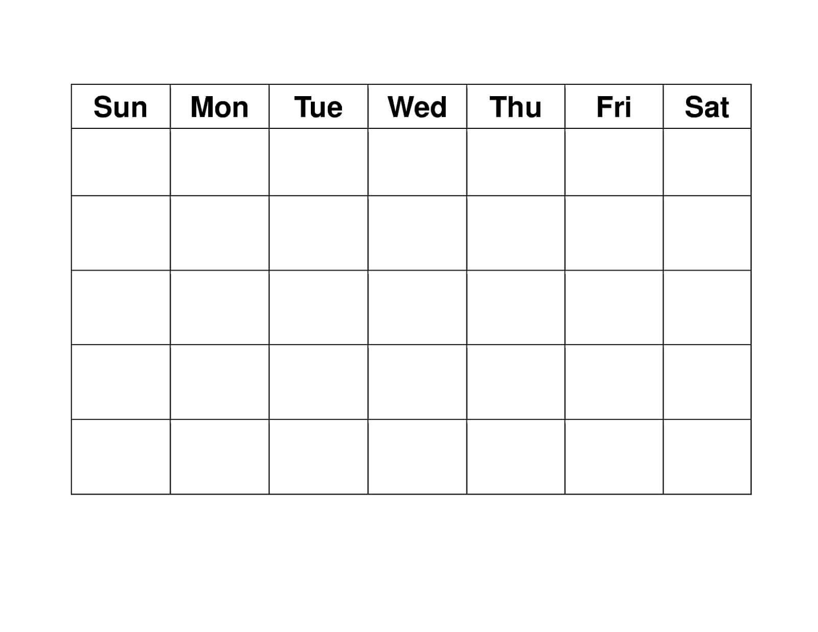 Blank Weekly Calendars Printable | Blank Calendar Template within Blank Activity Calendar Template