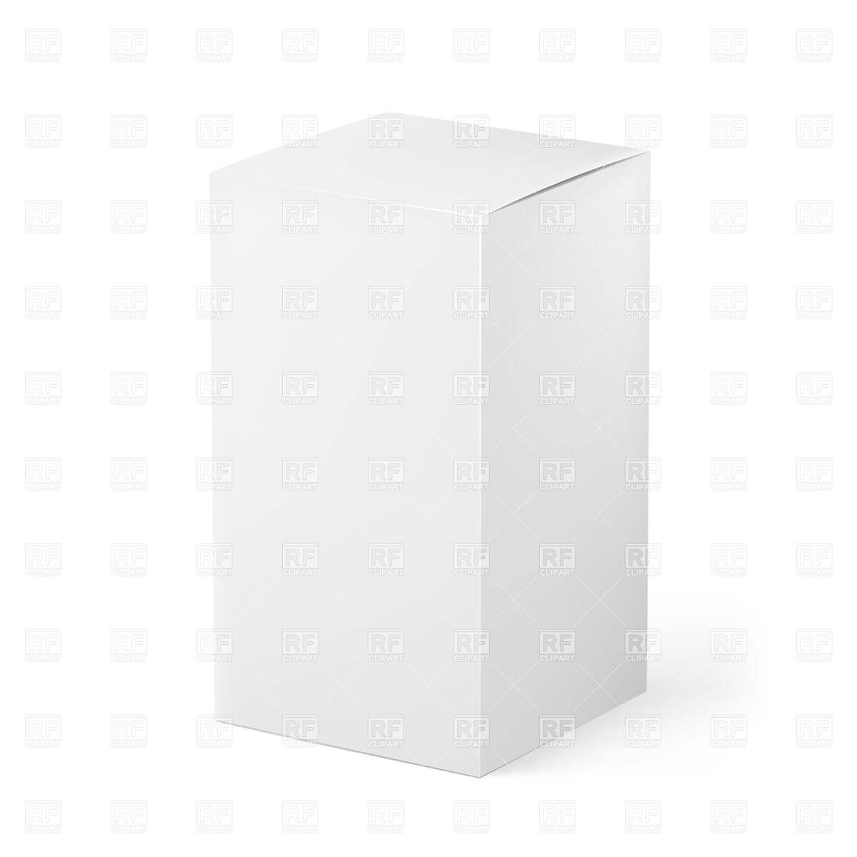 Blank White Box - Package Template Stock Vector Image with Blank Packaging Templates