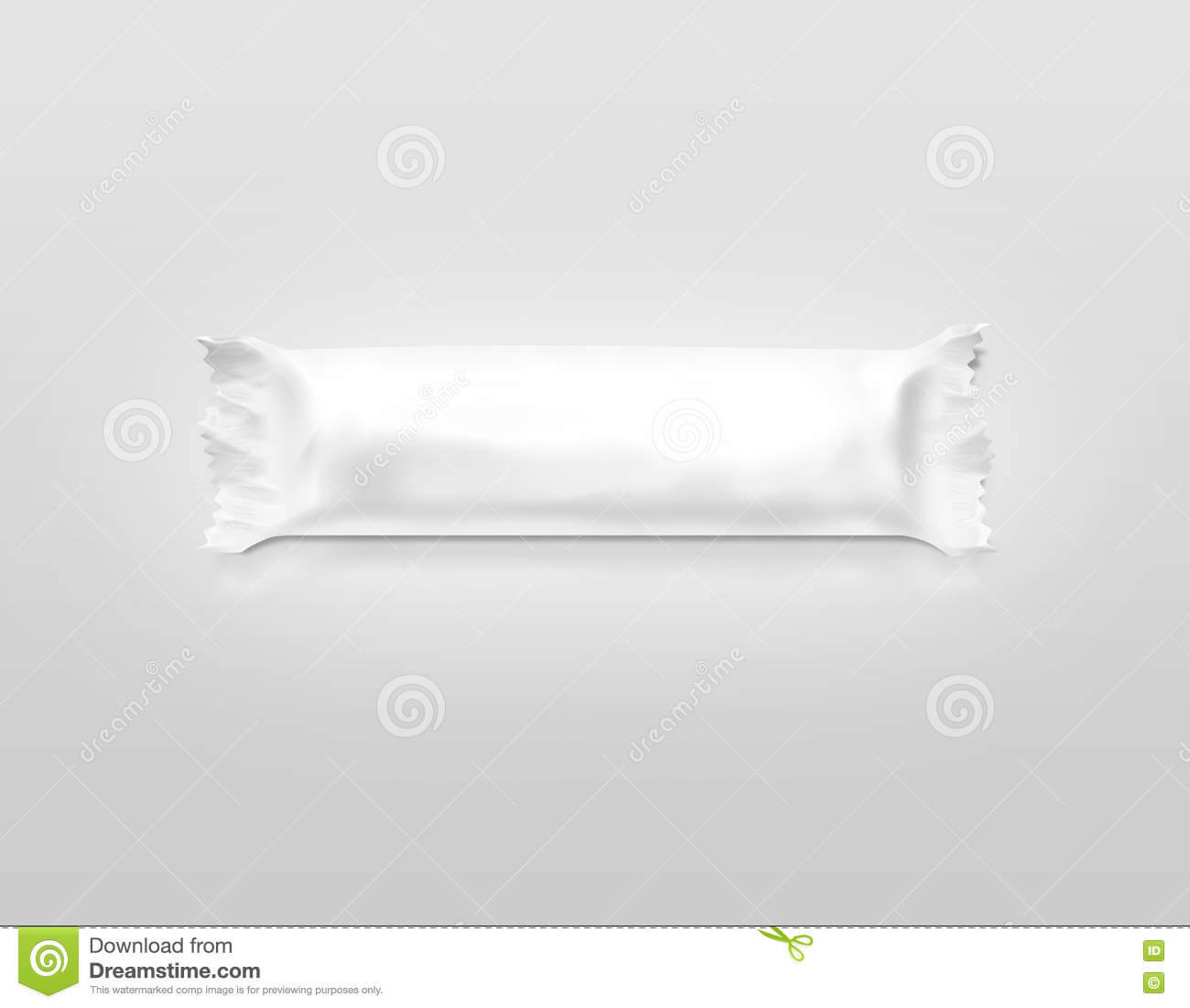 Blank White Candy Bar Plastic Wrap Mockup . Stock Photo with regard to Blank Candy Bar Wrapper Template