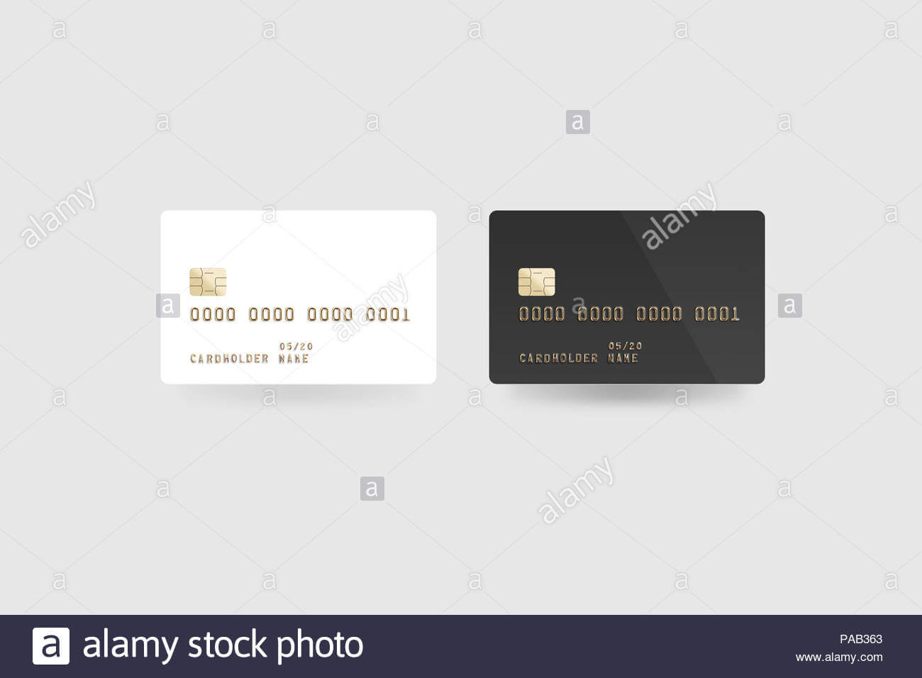 Blank White Credit Card Mockup Isolated, Clipping Path With Credit Card Templates For Sale