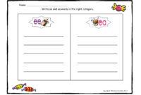 Blank Word Sort Template. Teaching Spelling Word Work On in Words Their Way Blank Sort Template