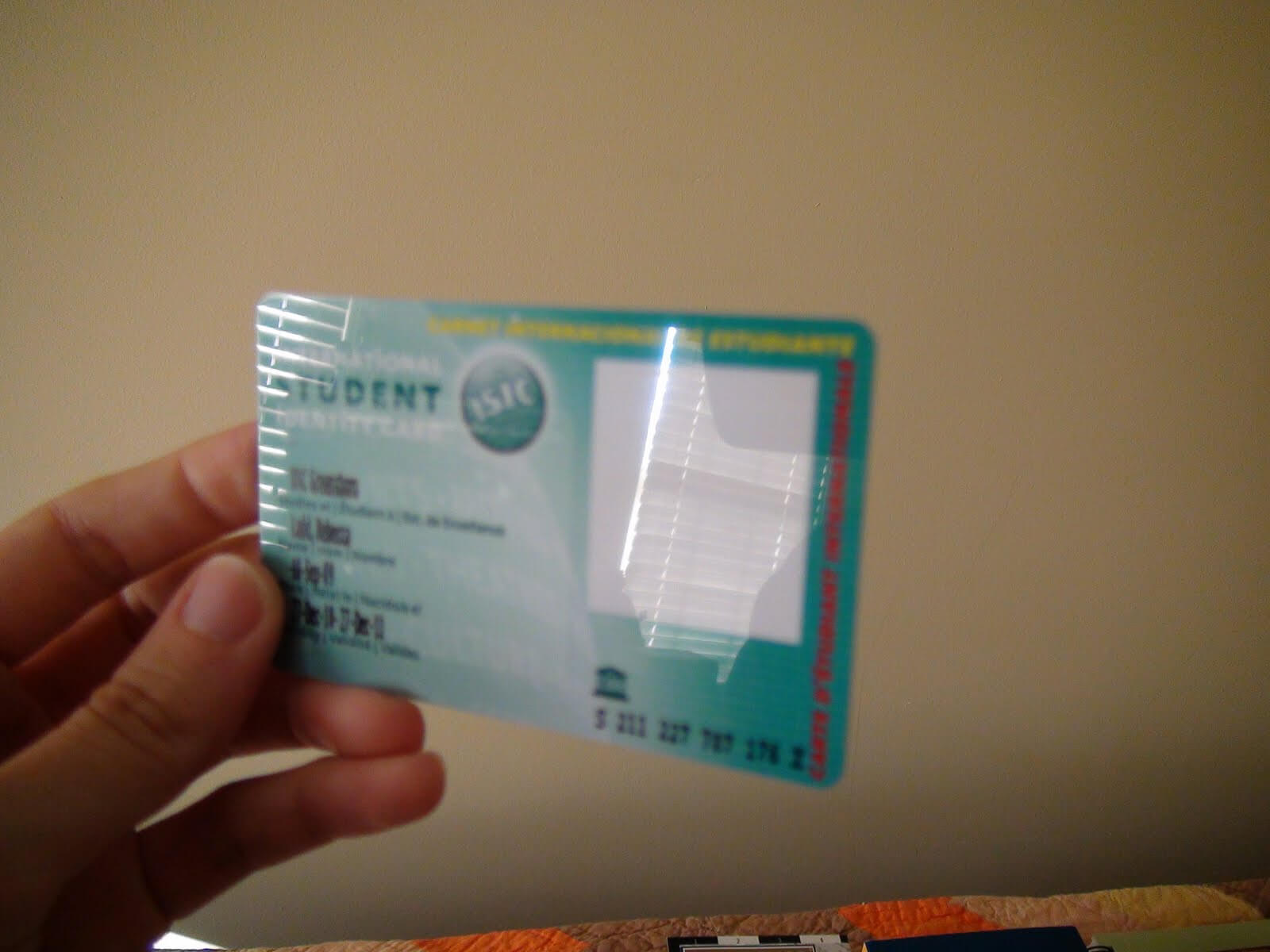 Blog*abroad: International Cellphone! Inside Isic Card inside Isic Card Template