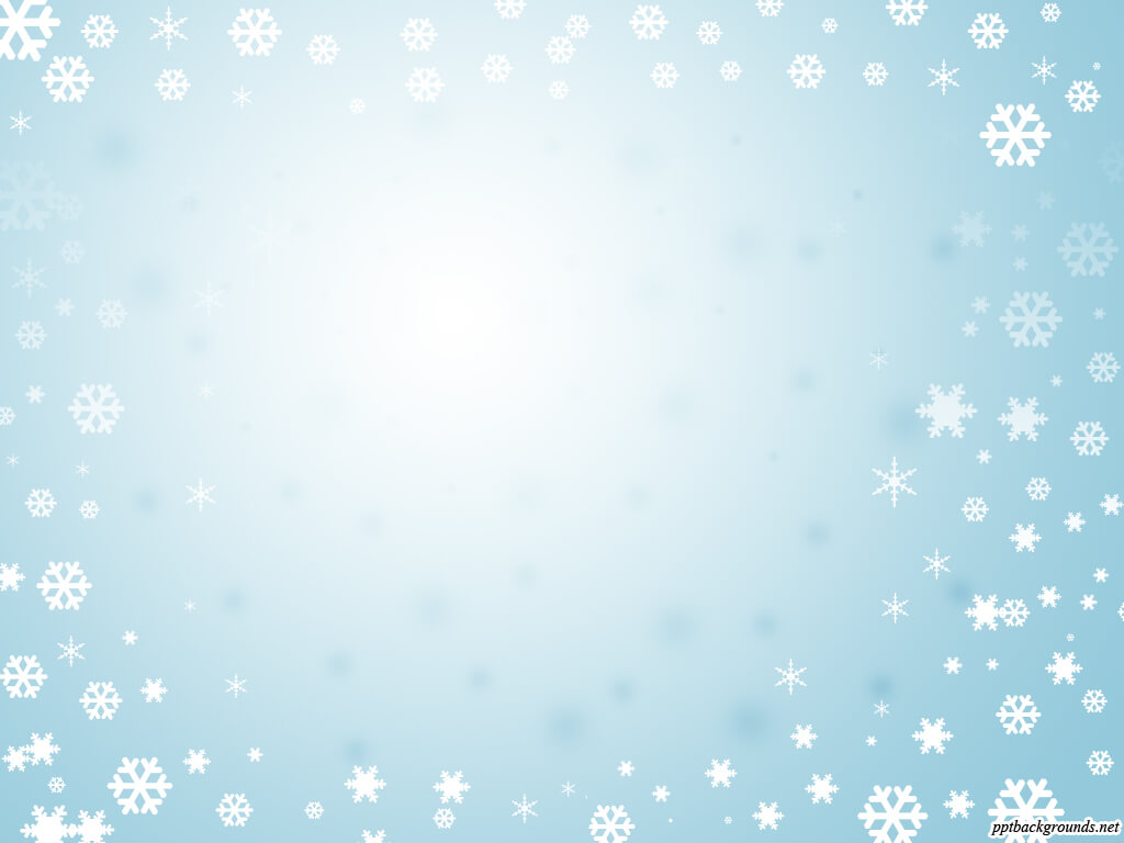 Blue Background With Frame Of Snowflakes Backgrounds For throughout Snow Powerpoint Template