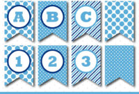 Blue Banner, Party Banner, Birthday Banner, Baby Shower within Diy Baby Shower Banner Template