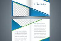 Blue Bifold Brochure Template Design Business Intended For Brochure Templates Adobe Illustrator