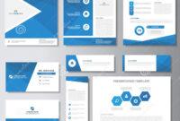 Blue Business Brochure Flyer Leaflet Presentation Card in Advertising Card Template