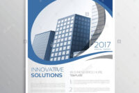 Blue Business Flyer Leaflet Annual Report Cover Page Design with regard to Cover Page For Annual Report Template