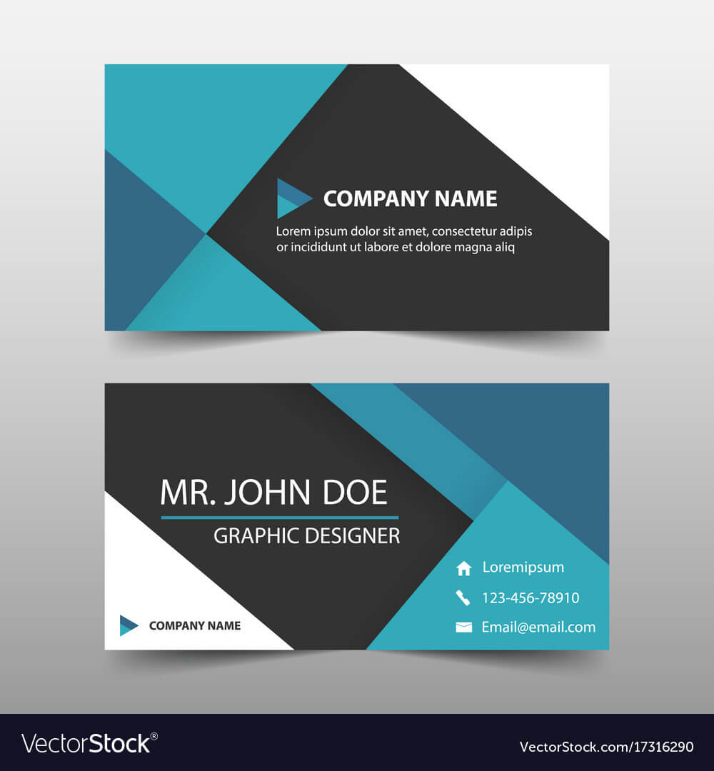 Blue Corporate Business Card Name Card Template Intended For Buisness Card Template