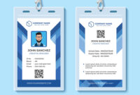 Blue Employee Id Card Design Template in Template For Id Card Free Download