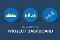 Blue Project Dashboard Powerpoint Template in Project Dashboard Template Powerpoint Free