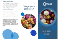 Blue Spheres Brochure Inside Microsoft Word Pamphlet Template