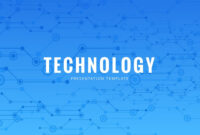 Blue Tech Free Powerpoint Template – Powerpointify throughout High Tech Powerpoint Template
