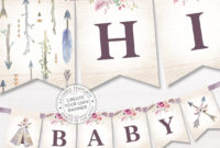 Boho Alphabet Banner Printable, Baby Shower Decor, Bohemian Tribal Party  Props, Pdf Template, Customized Diy Word Banner, Digital Download in Bride To Be Banner Template