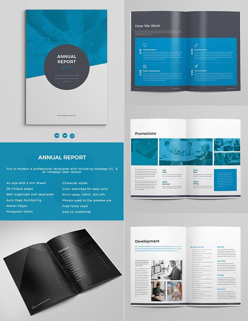 Bold Annual Report Template Indesign Design Set | Indesign inside Free Indesign Report Templates